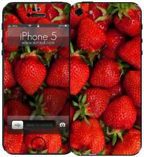 Skinz Retro Vinyl Sticker Skin Case for Apple iPhone 5 / 5S / SE - Strawberry