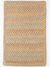 Woodstock Spacedyed Multi Soft Durable Country Cabin Braided Rug Khaki WO51