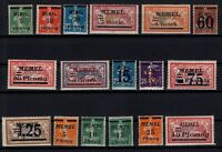 PP137608/ FRENCH MEMEL – YEARS 1920 - 1922 MINT MNH SEMI MODERN LOT – CV 111 $