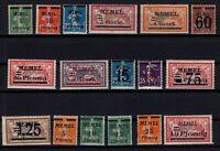 PP137608/ FRENCH MEMEL – YEARS 1920 - 1922 MINT MNH SEMI MODERN LOT – CV 111 $