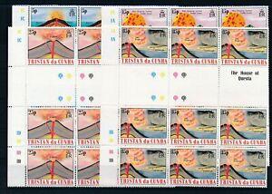 [G28136] Tristan Da Cunha Eruption 9x good set very fine MNH stamps