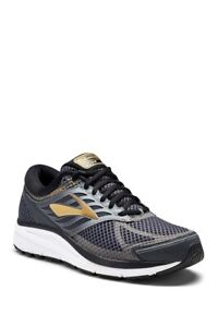 Brooks Addiction 13 Men's Running Shoe Black/Ebony/Metallic Gold Size 10 D