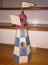 Midwest Of Cannon Falls Ahoy Flag Hand Crafted Bird Light House Nautical Unique