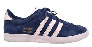 Adidas Q21600 Gazelle Navy Suede Walking Trainer Sneaker Shoes Men's US 7.5