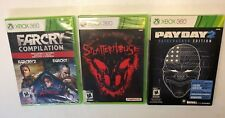 3 Xbox 360 Games (Far Cry Compilation Splatterhouse Pay Day 2 Safecracker E) NEW