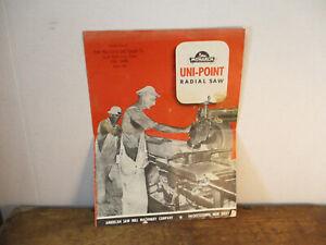Monarch Uni-Point Radial Saw American Saw Mill Co. Hackettstown NJ