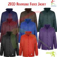 ZECO Unisex Kids Adults Reversible Nylon Fleece Jacket Outer Coat School Wear