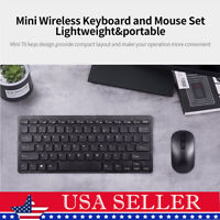 Wireless Slim Gaming Keyboard Mouse Combo Long Battery Life Slim Ergonomic J1U1