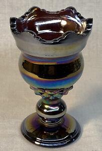 Fenton Art Glass For Encore Amethyst Carnival Commemorative  1986