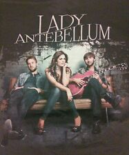 2011 Lady Antebellum Tour Graphic T-Shirt Country Dark Gray Adult Large