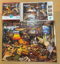 """CHARLES WYSOCKI """"Max In The Adirondacks"""" 750 Piece Puzzle Used Complete"""