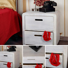 Design 3-tlg Schubladen-Tisch Couchtisch Nachttisch Holz Shabby Kommode Weiß