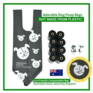 100% COMPOSTABLE Dog Poo Bags - Biodegradable, Eco-Friendly - 120 Pet Waste Bags