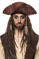 Damen Herren Perücke Pirat Hexe Jack Sparrow Fasching Karneval Dreadlocks NEU