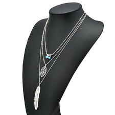 Necklaces Women Jewelry Accessories Beaded Feather Pendant Sweater Chain
