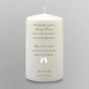 Personalised Wedding Memorial Candle Gift Keepsake In Loving Memory