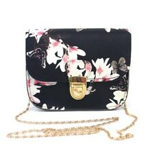 Women Butterfly Flower Printed Zip Handbag Shoulder Bag Tote Messenger Bag