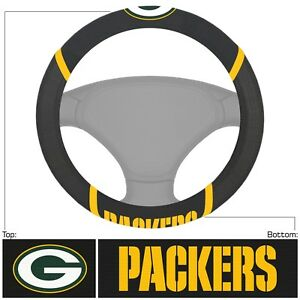Fanmats NFL Green Bay Packers Embroidered Steering Wheel Cover Delivery 2-4 Days
