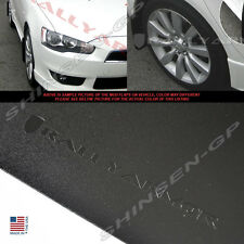 RALLY ARMOR BASIC SERIES BLACK MUD FLAPS 2007-2015 MITSUBISHI LANCER DE ES 4DR