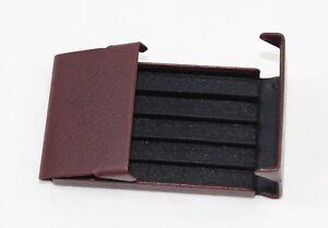 Portasigarette in pelle vera slim Uomo e Donna Made in Italy per 5 sigarette