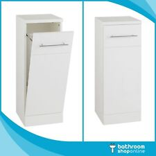 300mm Bathroom Cloakroom Laundry Gloss White Furniture Storage Units