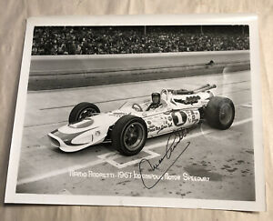Orig. Mario Andretti 1967 Indy 500 Motor Speedway Signed Racing Photo Autograph