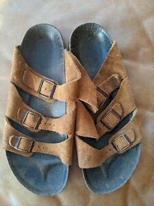 Birkenstock Betula Florida 3 Strap Rust suede Sandals 40/ narrow