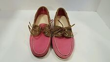 TIMBERLAND womens Pink And Brown Suede Boat Shoes Size 8