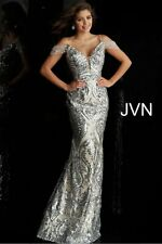 NEW JOVANI JVN67256 PROM GOWN, Size 18, Silver/Nude, NO RESERVE!