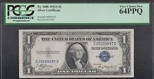 ** 1935 USA  PCGS Graded 64PPQ  Silver Certificate $1 note **