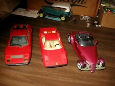 CHOICE: 1984, 1987 Ferrari or 1999 Plymouth Prowler 1/24 scale die cast models