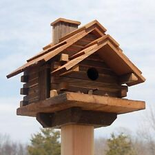 BIRD IN HAND CONESTOGA LOG CABIN HOUSE RUSTIC CEDAR WOOD DECOR SONGBIRD LOVERS!