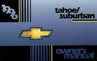 1996 Chevrolet Suburban, Tahoe Owners Manual User Guide