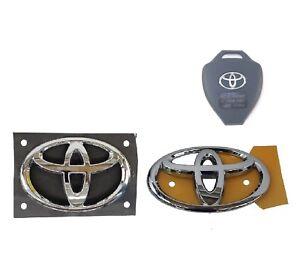 "Front & Rear Badges Key Plate Scion FR-S for FT86 GT86 13-14 Toyota""T"" logo"
