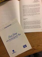 Sting The Police Meryl Streep plenty 1985 Promo Press Kit Book German Movie Film