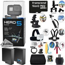 GoPro Hero 5 Black 4K Ultra HD Camera + Extra Battery & Much More! -Mega Kit