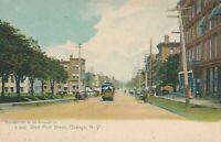 OSWEGO NY - West First Street Rotograph Postcard - udb (pre 1908)