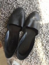 COS Black Leather Shoes Size 5