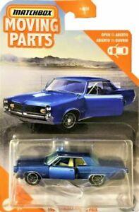 1964 Pontiac Grand Prix Light Blue* Matchbox Road Trip FWD35 Moving Parts H 1:64