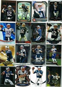 Tom Brady NFL Insert, SP, Refractor, Mixed Lot of (48) Cards