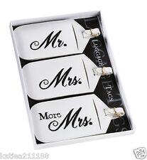 wedding Mr & Mrs black and white luggage tags gift set honeymoon present