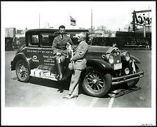 "1928 BUICK ""BOY SCOUTS - AROUND THE WORLD"" LONG DISTANCE AUTO~ANTIQUE 8x10 PHOTO"