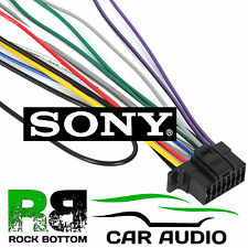 s l225 cd player harness iso adapter vehicle terminals & wiring ebay sony 16 pin wiring harness at gsmportal.co