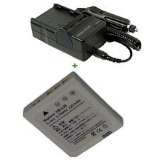 Battery + Charger for Sanyo DB-L20 Rechargeable Lithium-ion Xacti DSC-C4 DSC-C5