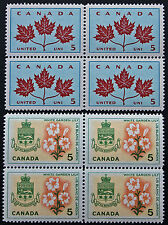 Timbre / Stamp CANADA - Yvert et Tellier n°342 x4 et 344 x4 n** (cyn7)
