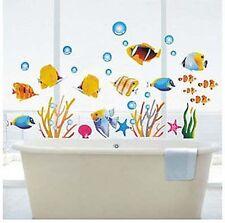 Tropical Fish Corals Wall Stickers Sea Bathroom Tile Decor PVC UK Stock