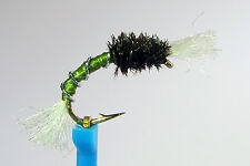 1 x Mouche chironome OLIVE H12/14 fly truite trout fliegen mosca