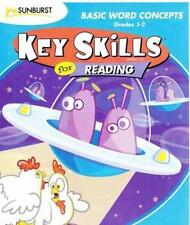 Key Skills Reading: Basic Word Concepts PC MAC CD learn to read nouns verbs game