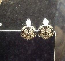 Soccer stud earrings Handmade/silver plated