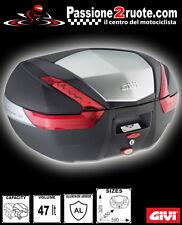 bauletto moto suitcase givi v47  + staffa 639f + piastra M3 Bmw f650 gs 00-03